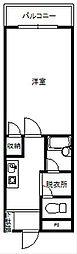 秋桜[502号室]の間取り