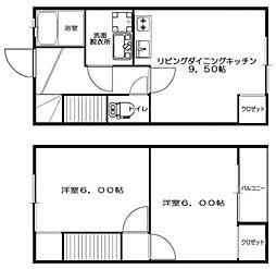 OsハイツII[1階]の間取り
