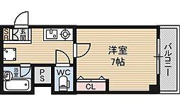 グレース東三国[5階]の間取り