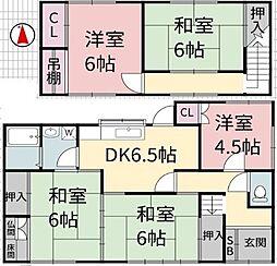 [一戸建] 兵庫県姫路市南条1丁目 の賃貸【/】の間取り