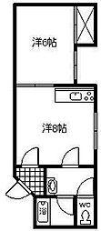 コンフレ−ル富岡[106号室]の間取り