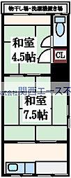 [一戸建] 大阪府大阪市生野区中川西2丁目 の賃貸【/】の間取り
