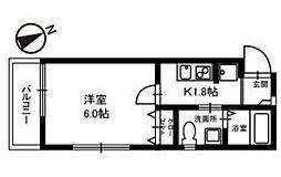 千葉県市川市新井1丁目の賃貸アパートの間取り