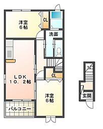 マーサT・III[2階]の間取り