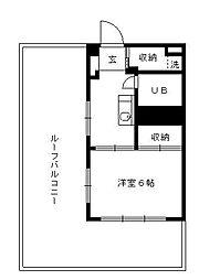 東京都江東区新大橋1丁目の賃貸マンションの間取り