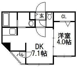 Resonate南7条[5階]の間取り