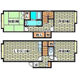 北海道札幌市清田区平岡三条3の賃貸アパートの間取り