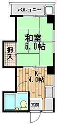 坂田マンション[4階]の間取り