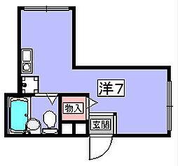 エバーミリオン[3階]の間取り