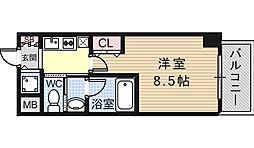 サイプレス小阪駅前[6階]の間取り