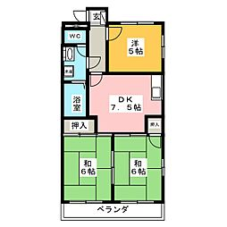 マンション渋谷[3階]の間取り