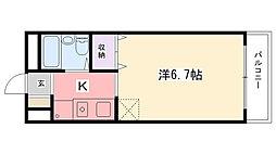 リバーサイドハイツ米田[213号室]の間取り