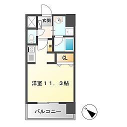 TOURNEY名駅[3階]の間取り