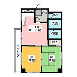 第二宝来マンション[3階]の間取り