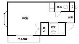 フジコーマンション小松里[3階]の間取り