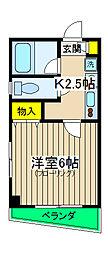 神奈川県横浜市保土ケ谷区星川3丁目の賃貸マンションの間取り