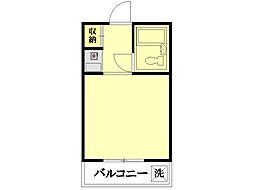 ディア・トラスト横浜鶴見[3階]の間取り