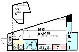 フォレステージュ江坂公園[15階]の間取り