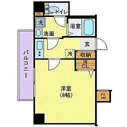 京王井の頭線 高井戸駅 徒歩2分の賃貸マンション 4階1Kの間取り