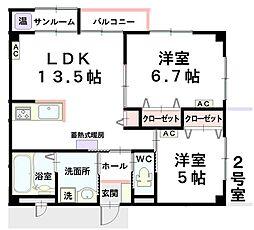 SEISENマンション[302号室]の間取り