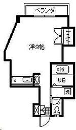 リバティハウス2[201号室]の間取り