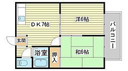 エステートピア国分寺[B103号室]の間取り