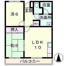 N3マンション[1階]の間取り