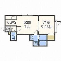 グランエステート菊水元町[2階]の間取り