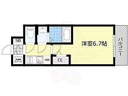 プロヴィスタ新大阪イーストゲート 7階1Kの間取り