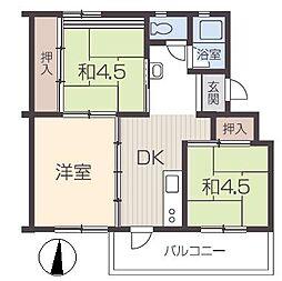 姫路青山団地[1階]の間取り