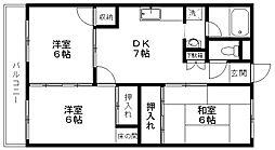 新潟県新潟市東区太平2丁目の賃貸アパートの間取り