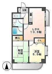 愛知県名古屋市昭和区福江2丁目の賃貸マンションの間取り