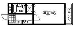 コーポ福田[306号室]の間取り