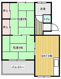 愛知県名古屋市中川区広田町2の賃貸マンションの間取り