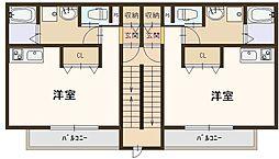 J-朝日ハウス 3階ワンルームの間取り