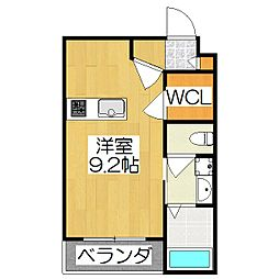 THE GARNET SUITE RESIDENCE龍谷大前 3階ワンルームの間取り