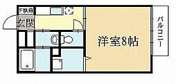 京都府宇治市伊勢田町井尻の賃貸アパートの間取り