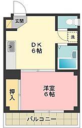 かすみ台コーポ2[1階]の間取り
