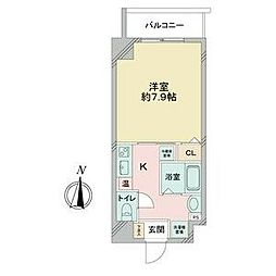 名古屋市営桜通線 国際センター駅 徒歩8分の賃貸マンション 9階1Kの間取り