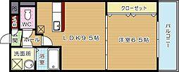 コスモス浅川学園台[4階]の間取り