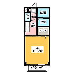 プランドールコート中央[2階]の間取り