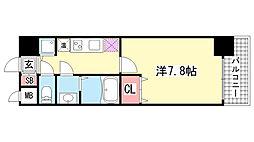 レオンコンフォート神戸西[4階]の間取り
