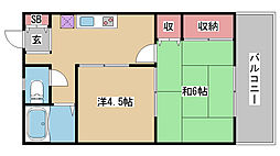 兵庫県神戸市東灘区魚崎西町2丁目の賃貸アパートの間取り
