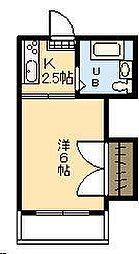 第6三重野ビル[208号室]の間取り