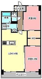 静岡県浜松市中区幸1丁目の賃貸マンションの間取り