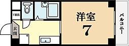 京都府城陽市枇杷庄西ノ口の賃貸マンションの間取り