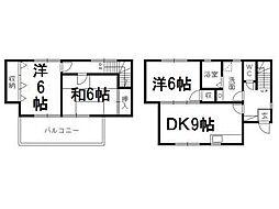 [テラスハウス] 静岡県浜松市浜北区横須賀 の賃貸【/】の間取り
