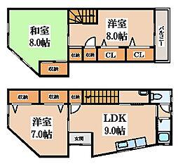 稲葉1丁目貸家 1階3DKの間取り