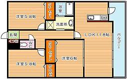 メゾンほおづきI[1階]の間取り
