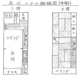 [タウンハウス] 兵庫県姫路市飾磨区構4丁目 の賃貸【/】の間取り